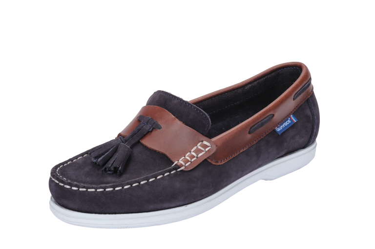 Capri Navy Chestnut Slip On Deck Shoe