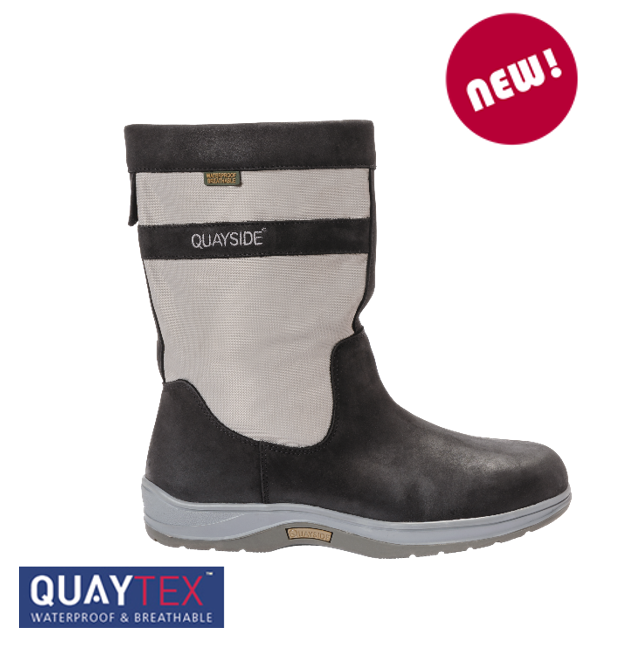 Quayside Coastal Grey Sailing Boot