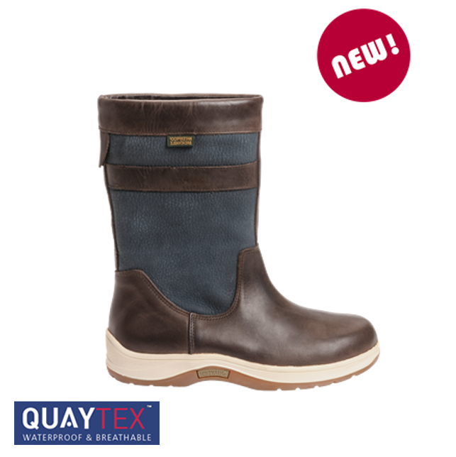 Quayside Coastal Navy Chestnut Sailing Boot