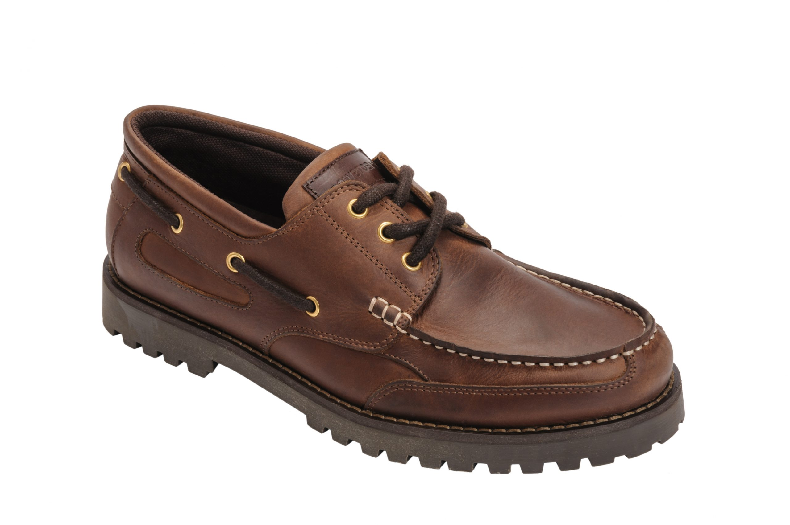 Quayside Porto Walnut Men/'s Leather /& Cushioned Sailing Deck Shoes