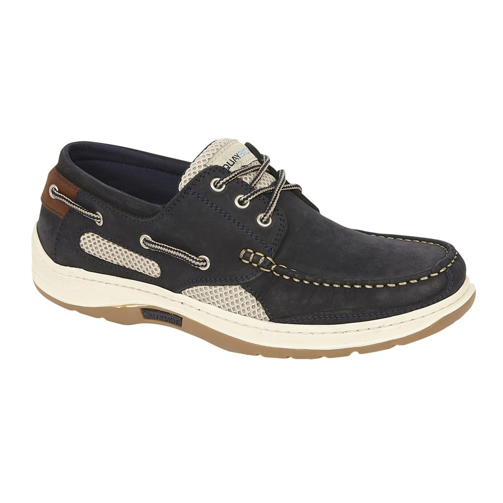 Quayside Sydney Navy Best Selling Leather Lace Deck Shoe