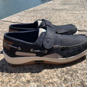 Quayside Hobart Navy Velcro Deck Shoe