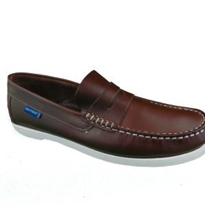 Quayside Lymington Chestnut Slip on deck shoe