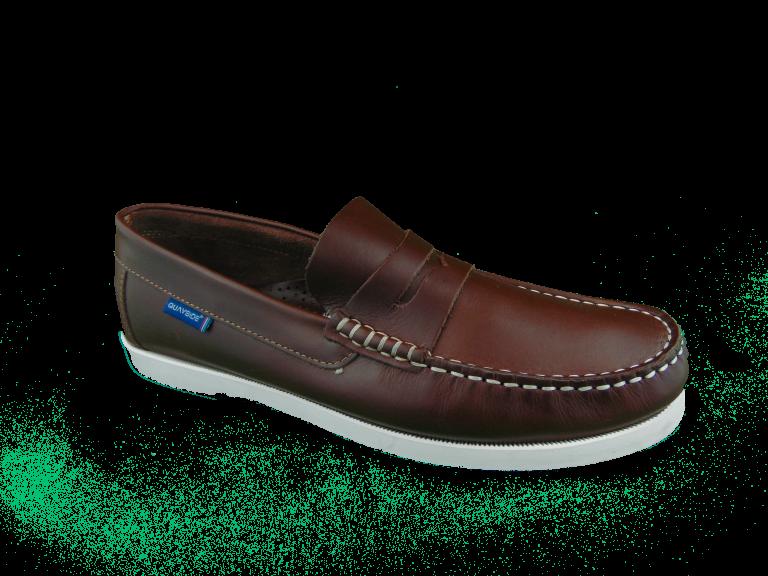 Quayside Lymington Chestnut Slip on deck shoe